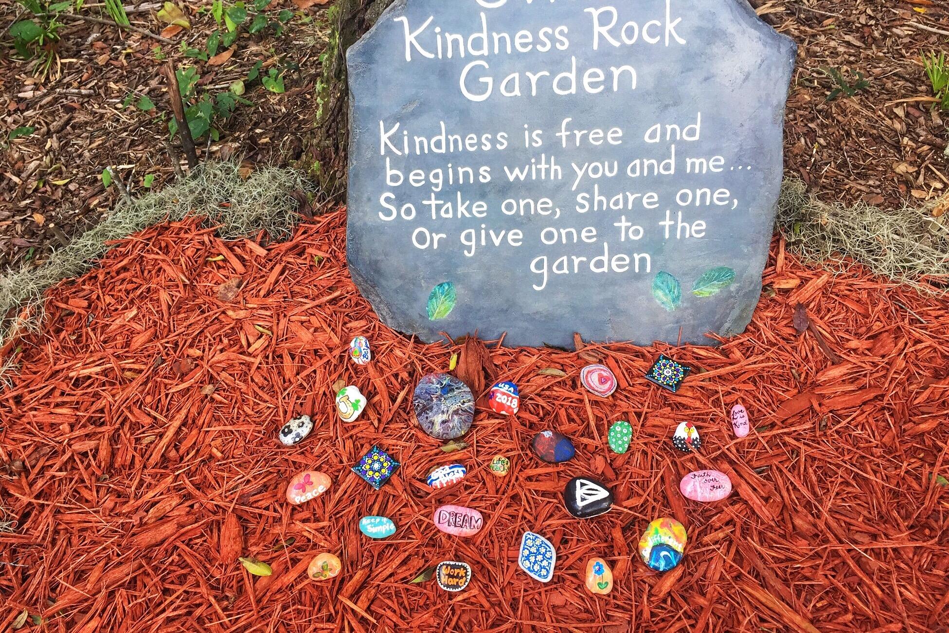 kindness rock garden-1